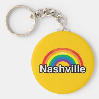 NASHVILLE LGBT PRIDE RAINBOW KEYCHAINS