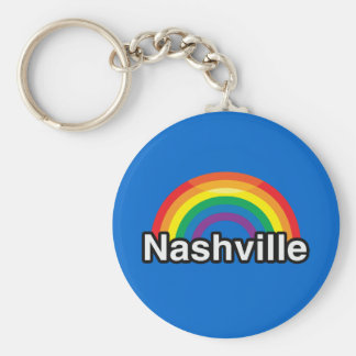 NASHVILLE LGBT PRIDE RAINBOW KEYCHAIN