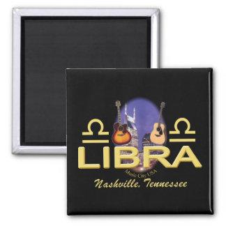 Nashville Libra 2 Inch Square Magnet