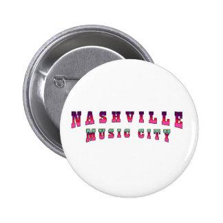 Nashville Music City 2 6 Cm Round Badge
