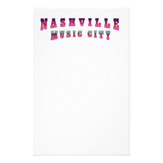 Nashville Music City 2 Personalized Flyer