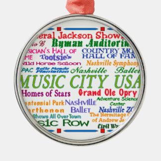 Nashville Music City Christmas Ornament