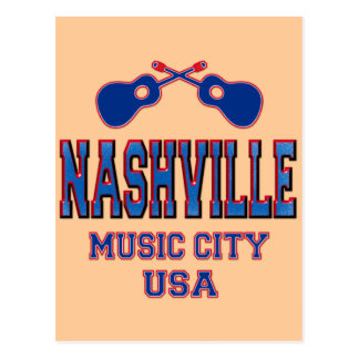 Nashville, Music City USA Postcard