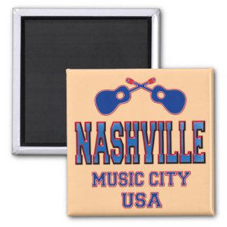 Nashville, Music City USA Square Magnet