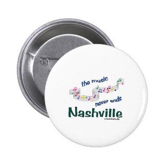 Nashville Music Notes Button