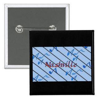 Nashville Notes Blue 15 Cm Square Badge