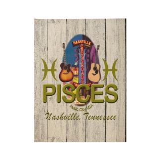"Nashville Pisces, 19"" x 14.5"" Wood Poster"