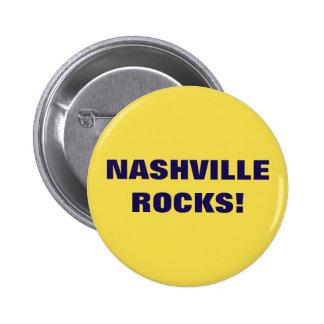 NASHVILLE ROCKS! 6 CM ROUND BADGE