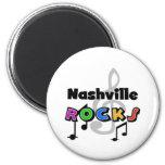 Nashville Rocks 6 Cm Round Magnet