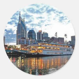 Nashville Round Sticker
