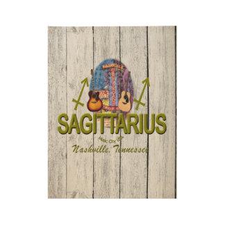 """Nashville Sagittarius, 19"""" x 14.5"""" Wood Poster"""