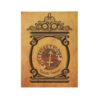 Nashville Sagittarius Zodiac Wood Poster - BNZ