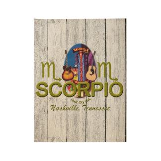 "Nashville Scorpio, 19"" x 14.5"" Wood Poster"