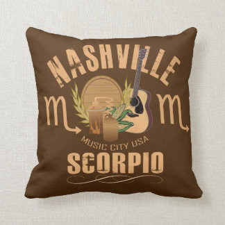 Nashville Scorpio Zodiac Throw Pillow