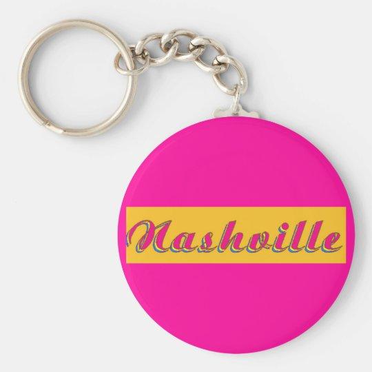 Nashville Script Key Ring