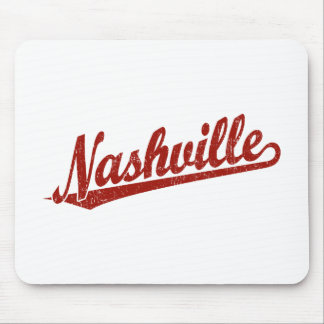 Nashville script logo in red distressed mousepads