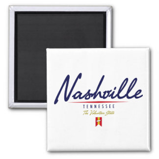 Nashville Script Square Magnet