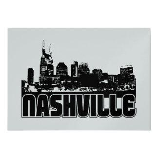 Nashville Skyline 13 Cm X 18 Cm Invitation Card