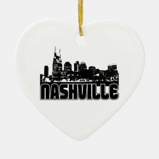 Nashville Skyline Christmas Ornament