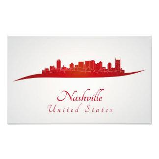 Nashville skyline in network photographic print