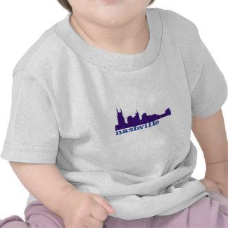 Nashville Skyline Purple Tshirts