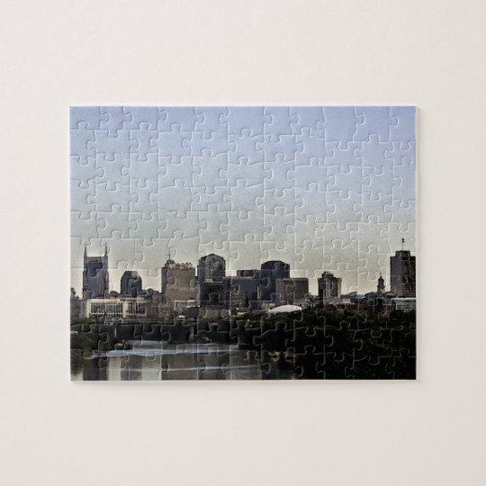 Nashville Skyline Watercolor Puzzle