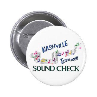 Nashville Sound Check 6 Cm Round Badge