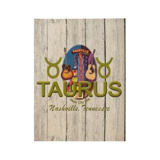 """Nashville Taurus, 19"""" x 14.5"""" Wood Poster"""
