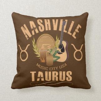 Nashville Taurus Zodiac Throw Pillow