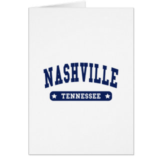 Nashville Tennessee College Style tee shirts Card