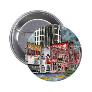 nashville tennessee country music capital art 6 cm round badge