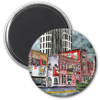 nashville tennessee country music capital art refrigerator magnet
