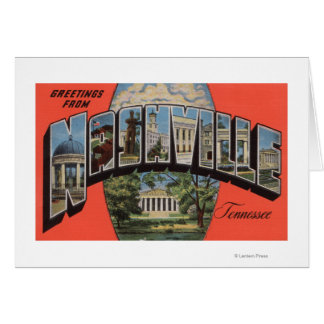 Nashville, Tennessee - Large Letter Scenes 2 Card