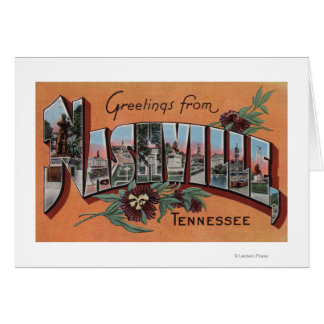 Nashville, Tennessee - Large Letter Scenes Greeting Card