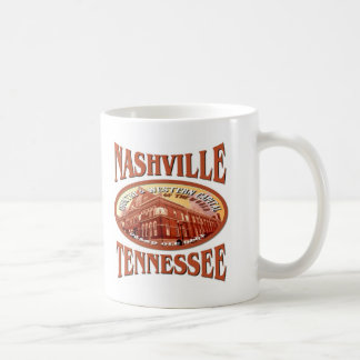 Nashville Tennessee Classic White Coffee Mug