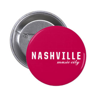 Nashville, Tennessee Music City Button