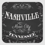 Nashville, Tennessee - Music City Square Stickers