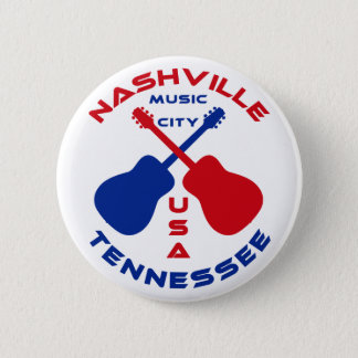 Nashville, Tennessee Music City USA 6 Cm Round Badge