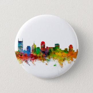 Nashville Tennessee Skyline 6 Cm Round Badge