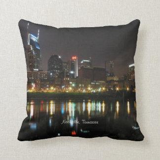 Nashville, Tennessee Skyline at Night Cushion