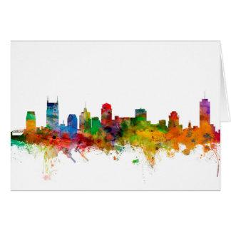 Nashville Tennessee Skyline Card