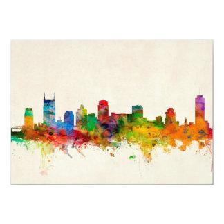 Nashville Tennessee Skyline Cityscape 13 Cm X 18 Cm Invitation Card