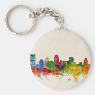 Nashville Tennessee Skyline Cityscape Key Chain