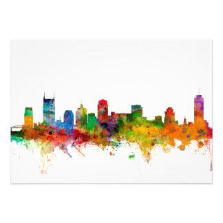 Nashville Tennessee Skyline Personalised Invites