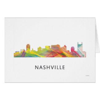 NASHVILLE, TENNESSEE SKYLINE WB1  - GREETING CARD