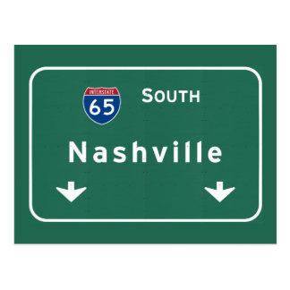 Nashville Tennessee tn Interstate Highway Freeway Postcard