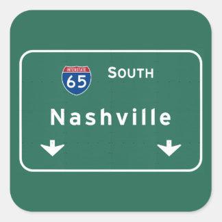Nashville Tennessee tn Interstate Highway Freeway Square Sticker