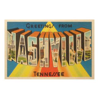 Nashville Tennessee TN Old Vintage Travel Souvenir Wood Prints