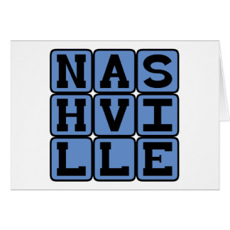 Nashville, Tennessee United States Greeting Card