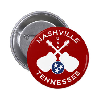 Nashville, Tennessee USA 6 Cm Round Badge